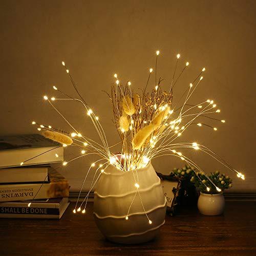 Lixada Led-lichtsnoer met 150 leds, voor binnen en buiten, met afstandsbediening, decoratieve hangende barburst-lamp voor binnen en buiten, feesten, bruiloft, hoftuin