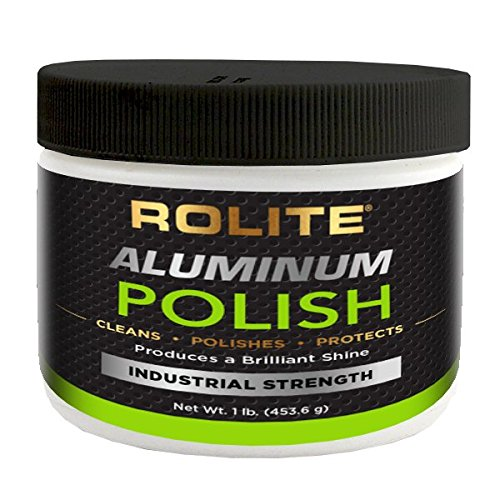 Rolite Aluminum Polish (1lb) for All Aluminum & Bare Metal Surfaces - Canoes, Jon Boats, Pontoons, RVs, Diamond Plate, Aluminum Non-Coated Wheels