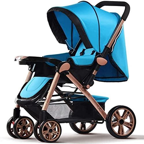 Cochecito portátil del cochecito de bebé ligero, cochecito de bebé de cuatro rondas plegables de cuatro rondas de alto paisaje cochecito ajustable cochecito (Color : E)