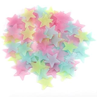 100Pcs Gorgeous Night-luminous orescent Glow Stars Stickers Home Decor Wall Sticker for Kids Bedroom