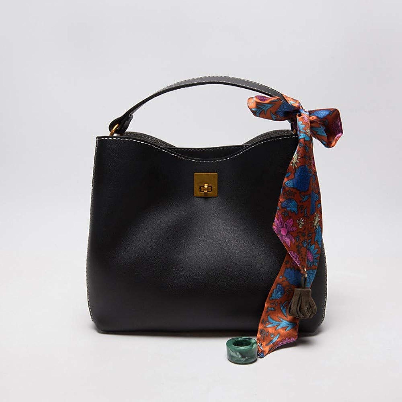 WYBBAG Tasche Weibliche Farbe Seidenschals Retro Retro Retro Einfache Umhängetasche Diagonale Cross Bag Eimer Tasche Schwarz B07PBVZTH9  Helle Farben 03b932
