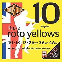 Rotosound ロトサウンド 2セット入り エレキギター弦 Nickel on Steel/Regular (.010-.046) R10-2