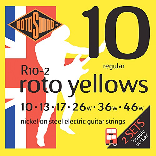 Rotosound Roto Yellows Double Deckers Electric Guitar Strings 2-Pack