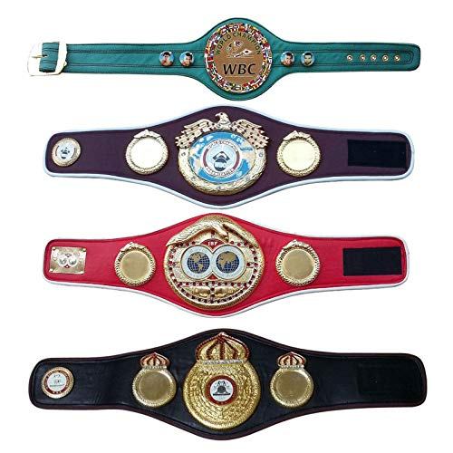 House of Highland 77 WBC WBO WBA IBF Championship Boxing Belt Replica Mini 4 Belt Set