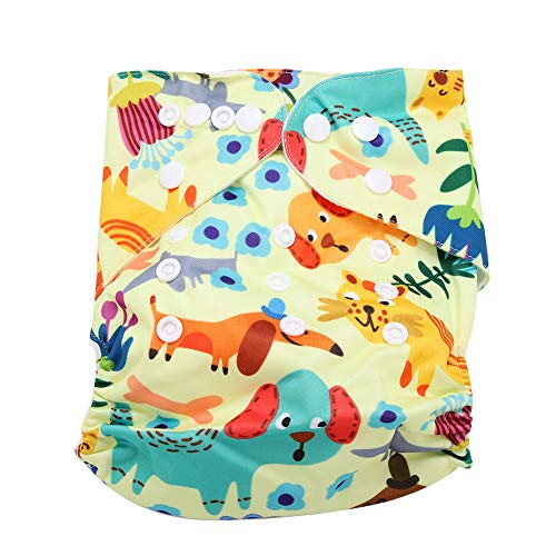 Calico Swim Diaper Baby Infant Snap Absorbente Lavable Swimsuit Pañal...