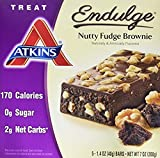 Atkins Endulge Treat Nutty Fudge Brownie, 5 Count (Pack of 6)