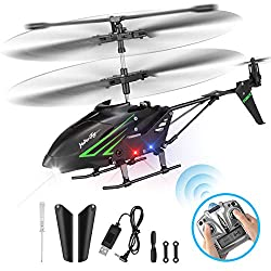 HisHeryToy Remote Control Helicopter with Gyro and LED Lights