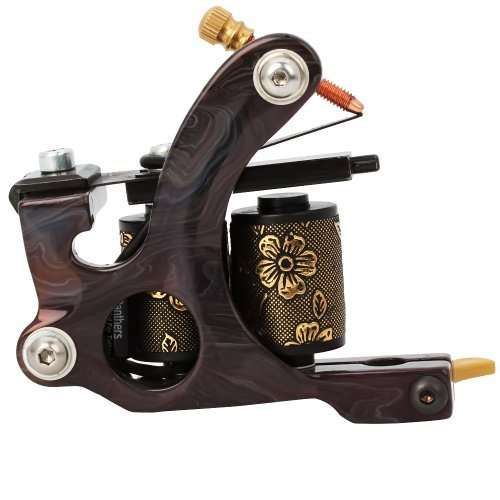 One Tattoo World 8 Wrap Coils Iron Liner Gun Tattoo Machine,...