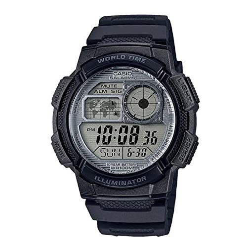 CASIO Herren Digital Quarz Uhr mit Resin Armband AE-1000W-7AVEF