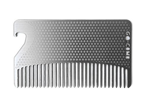 Go-Comb - Wallet Comb + Bottle Opener - Sleek, Durable Stainless Steel Hair and Beard Comb