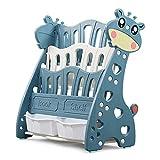 Librería Infantil para Niños Estanteria Libros Infantil 4 Estantes para Libros y Juguetes Caja de Almacenaje Fácil de montar Patrón de Cervatillo