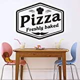Geiqianjiumai Pizza Schild Fenster Aufkleber Muster Küche Wandaufkleber Restaurant Dekoration Pizza...