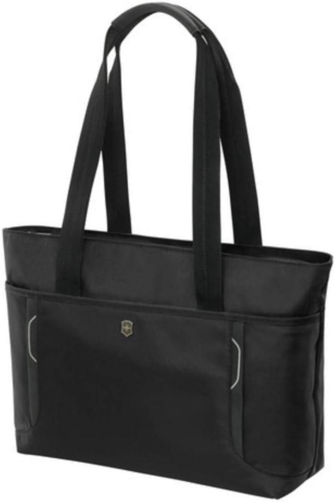Victorinox Werks Traveler 6.0 Shopping Tote with Pass Thru Sleeve, Black, 12.6-inch
