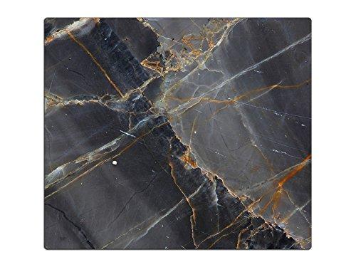 Herdabdeckplatten, Schneidebrett aus Glas, Marmor Optik Schwarz HA544202920 Variante 1x Scheibe (1 Panels)