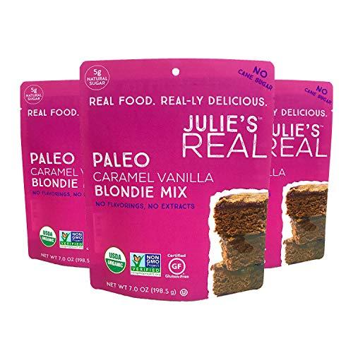Julie's Real Paleo Blondie Brownie Mix, Caramel Vanilla - USDA Certified Organic, Certified Gluten-Free, Certified Non-GMO, Vegan, No Added Cane Sugar - 3-Pack