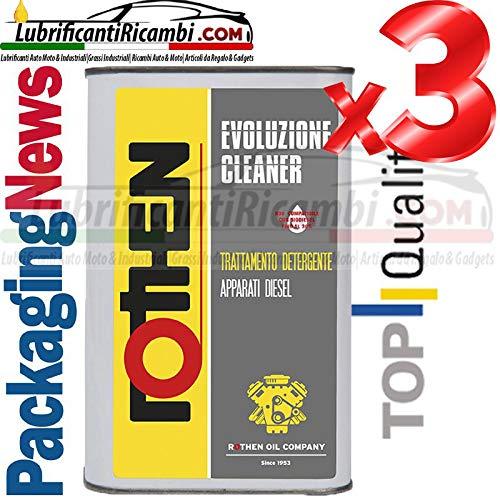 Rothen Additivo per Gasolio Evoluzione Cleaner Pulizia Motori Diesel e Serbatoi di Stoccaggio 3LT