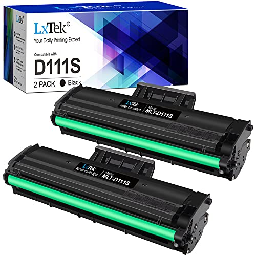 LxTek Compatibile Toner Sostituzione per Samsung MLT-D111S per Xpress M2026W M2026 SL-M2070 SL-M2070W SL-M2070F SL-M2070FW M2020W M2020 M2022 M2022W (Nero, 2-Pack)