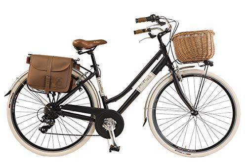 Via Veneto by Canellini Bicicletta Bici Citybike CTB Donna Vintage Retro Via Veneto Alluminio Nero Taglia 46