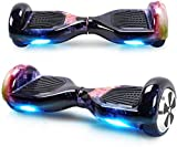 Windgoo Hoverboard 6.5' Balance Board Patinete Eléctrico Scooter Talla LED 250W*2 (Black)