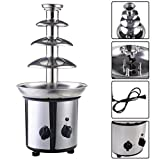 expert store VD-51743HW 4 Tiers Commercial Stainless Steel Hot Luxury Chocolate Fondue...