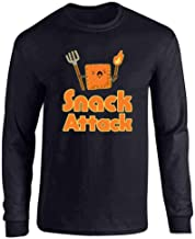 Pop Threads Snack Attack Funny Cute Full Long Sleeve Tee T-Shirt