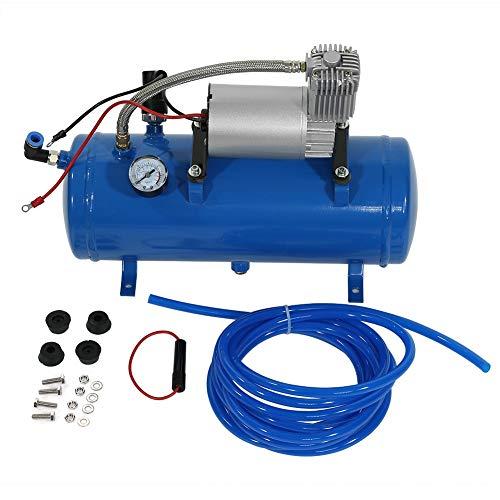 Luchtcompressor, 150psi 12V luchtcompressor met 6 liter tankband opblaaspomp voor luchthoorn trein vrachtwagen RV band