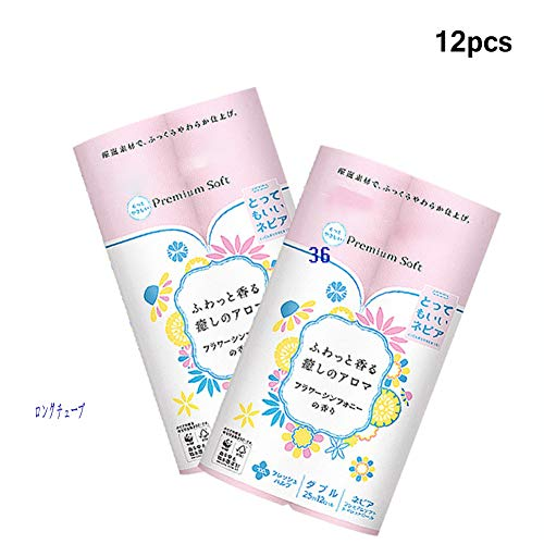 Bloemenrol Papier, Huishoudelijk cored Papier, 25m / roll X12 roll, Diverse Bloemen Roze roll Papier, SMS Papier maken proces