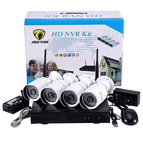 KIT VIDEOSORVEGLIANZA HD NVR WIFI JORTAN A 4 CANALI CON 4 TELECAMERE INCLUSE AHD 1,3 MP CW438