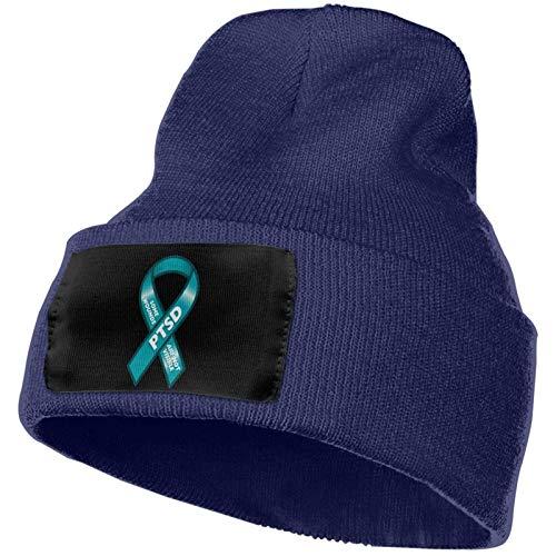 AEMAPE PTSD No Todas Las heridas Son visibles Ribbon Hombres Mujeres Beanie Cap Gorro de Invierno Gorro de Punto Gorro de Calavera