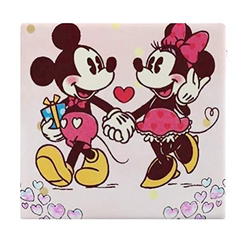 Cojín Cojín de Asiento de Espuma viscoelástica Cuadrado Minnie Mouse Love Mickey Cojín súper Acogedor Cojín Suave para Interior