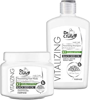 Farmasi Dr C Tuna Vitalizing Nourishing Hair Mask and Shampoo Black Seed Oil (Set)