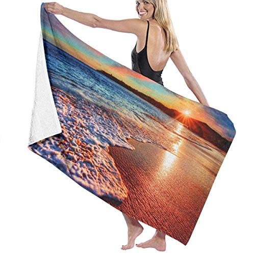 chillChur-DD Bath Towel Badetuch Wrap Coloured Sky Ocean Prints Damen Spa Dusche und...