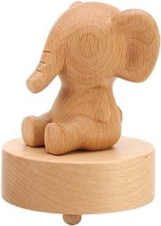 Elefante de madera clásica mecanismo regalo caja musical para la Navidad