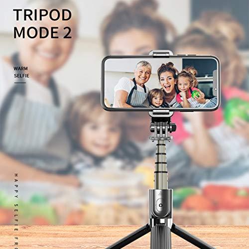 Chenso - Trípode telescópico inalámbrico Bluetooth con trípode telescópico plegable Bluetooth 4.0 monopié para iPhone An-Droid teléfonos móviles cámara