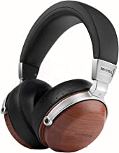 SIVGA SV003 Wooden Over-Ear Noise Cancelling Hi-Fi Stereo Studio Monitoring Close Back Headphones with Soft Earmuffs & Headset, Microphone, Leather Case (Rosewood)