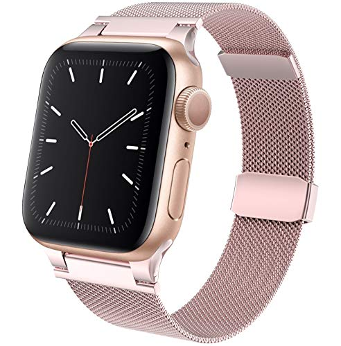 RON-D Compatible with Apple Watch Band 44mm 42mm 40mm 38mm, Stainless Steel Replacement Parts for iWatch Band for Series 6/SE/5/4/3/2/1