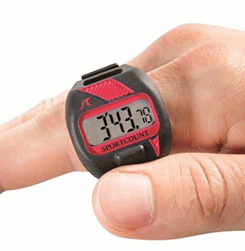 SC SPORTCOUNT Timer für 200 Rundenzähler – Wasserdichter Schwimm- und Lauf-Tracker zählt Gesamtrunde, verstrichene Zeit, Zwischenzeit, durchschnittliche Runden und mehr