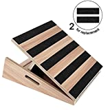 TOUCH-RICH Professional Wooden Slant Board, Adjustable Incline Board and Calf Stretcher, Stretch Board - Extra Side-Handle Design for Portability 5 Positions (partical)