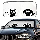 IC ICLOVER Car Windshield Sunshade with Pet Design, Cute Cartoon Design Front...
