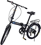 Portable ​​City Folding Bike Mini Compact Bicycle Urban Commuter 20 inch 7 Speed Bike