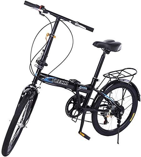 7 Speed Folding Bike for Adults Men and Women Lightweight Mini Folding Bike with V Brake [US in Stock]