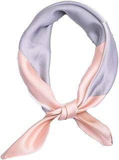 Happy-L New Tie Small Square Scarf Retro Colorful Triangle Silk Scarf Art Small Scarf Neck Decoration Shawl (Color : 02)