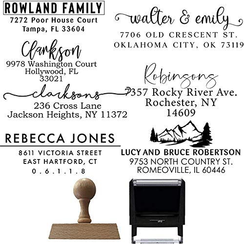 Address Stamp | Custom Address Stamp | 10 Designs to Choose | Personalized | SelfInking Return Address Mail | 3 Lines | Wedding Stamp | Custom Address Stamper | House Warming Gift