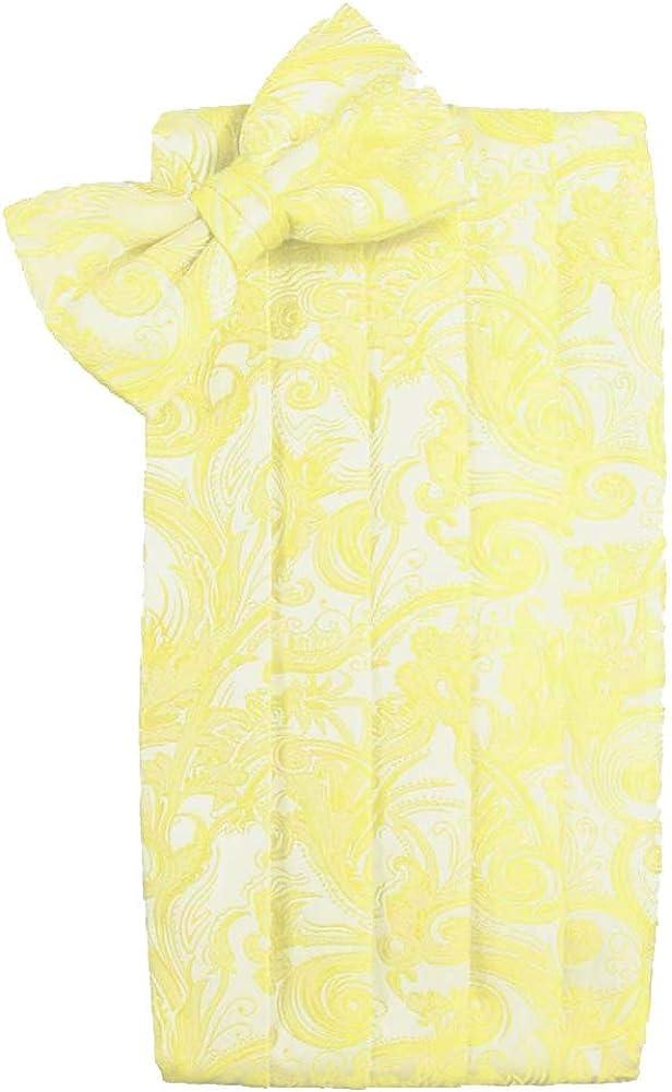 Men's Tapestry Cummerbund & Bow Tie Set - Many Colors (Sunbeam)