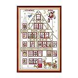 Amiiba Kits de punto de cruz estampados, Santa Claus House Gift Angel DIY 11CT 23.6 x 35.4 pulgadas (regalo)