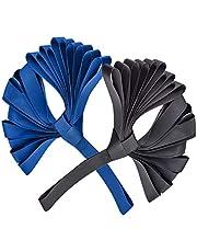 10 stuks Zachte Spanbanden Motorcycle Spanband Tie Down Straps Auto Vastbinden Vervoeren Riem Bevestigingsband voor het vervoeren van motorfietsen scooters vuilfietsen ATV Dirt Bike(Zwart blauw)