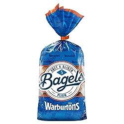 Warburtons Bagels Plain, Pack of 5