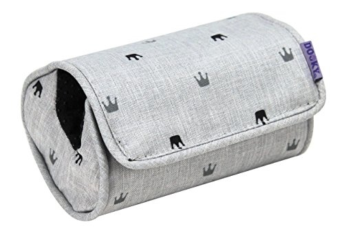 The Original Dooky 126948 Coussin Porte oeuf, Light Grey crowns