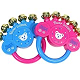 TOPCOMWW 2 Pcs Random Color Kids Toy Handbell Rattle Baby Kid Plastic Musical Instrument Shaking Jingle Bell Early Educational Gift