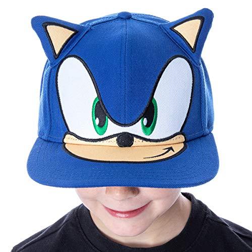 Bioworld Sonic The Hedgehog Hat bordado 3D personaje cara y orejas Snapback Gorra